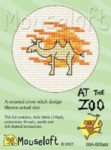 Mouseloft Camel At The Zoo cross stitch kit